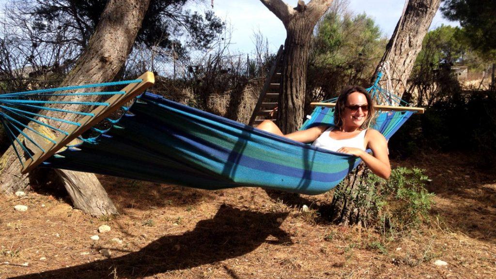 <em>Me in a hammock taking in the beauty </em>