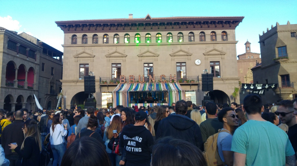 <em>Atmosphere at Poble Espanyol </em>